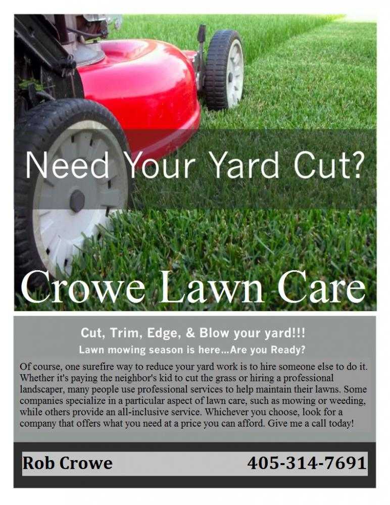 Lawn Care Flyers Free | Designmore